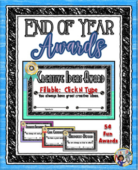 End of Year Award Certificates - Fillable