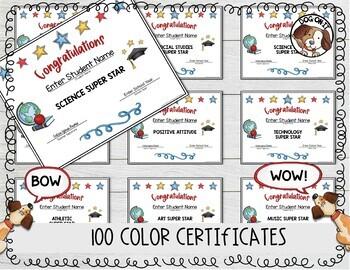 Award Certificates - FREE - Set 1