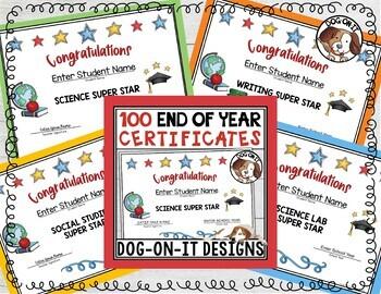 Editable Awards and Certificates Freebie
