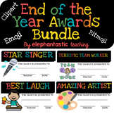 End of Year Award Certificates Bundle- Clipart, Emoji, and