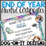 End of Year Award Certificates Editable