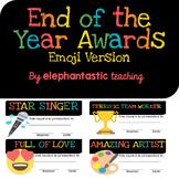End of Year Award Certificates-Emoji Version