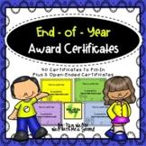 End of Year Award Certificates K-4