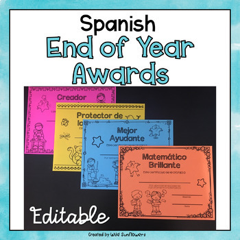 End of Year Award Certificates {in Spanish}