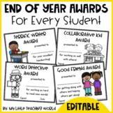 #springbackin End of Year Award {Editable}