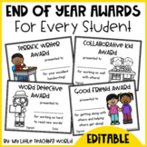 End of Year Awards - Editable Certificates