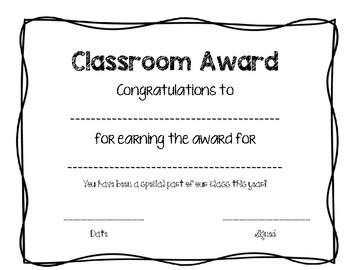 End of Year Award- NO PREP