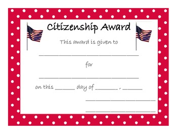 End of Year Award for Citizenship
