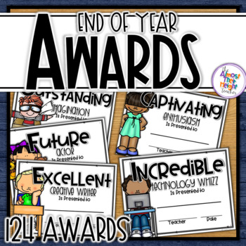 End of Year Awards - 124 different award categories - low ink version