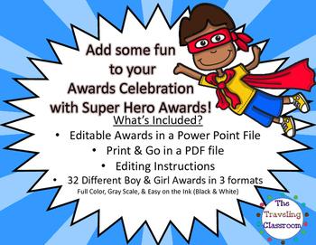 End of Year Awards - Super Hero Awards