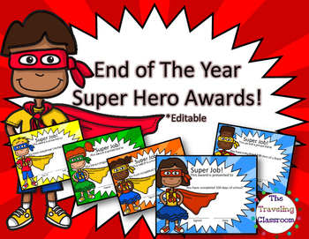 End of Year Awards - Super Hero Awards