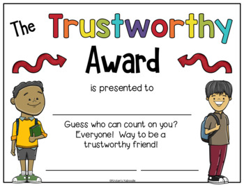 End of Year Character Traits Awards