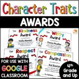 End of Year Awards - Character Traits Awards for Upper Grades