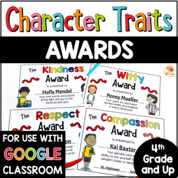 Character Traits Awards