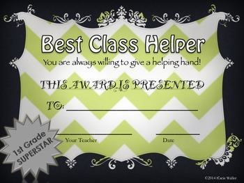 End of Year Awards-1st Grade Chevron