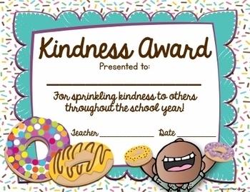 End of Year Awards - Fun Doughnut Theme!