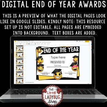 Emoji Awards: End of Year Awards, Editable Classroom Awards and Certificates