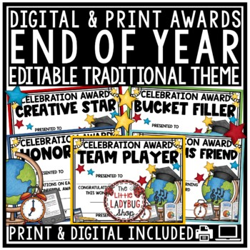 End of Year Awards EDITABLE - Certificates