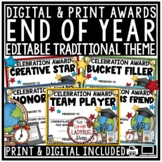 End of Year Editable Awards and Certificates: Classroom Awards, Student Awards