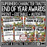 Superhero End of The Year Awards Editable Class Awards Superhero Theme