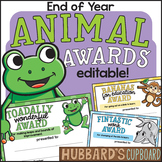 EDITABLE End of Year Awards - Animal Puns End of the Year Classroom Awards