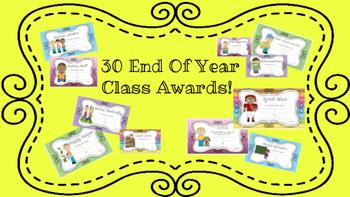 End of Year Awards Green Polka Dots