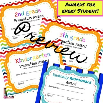 End of Year Awards (4 New Awards this Year!) Editable