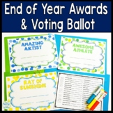FREE End of Year Awards: 31 Awards w/ Voting Ballot **NEW Editable Option!**