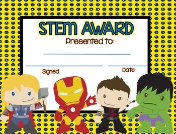End of Year Awards Superhero