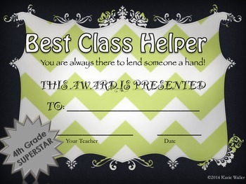 End of Year Awards-4th Grade Chevron