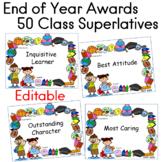 End of Year Awards 50 Superlatives EDITABLE