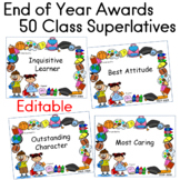 End of the Year Awards Class Superlatives 50 EDITABLE
