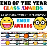 End of Year Awards - 52 Editable Awards for Last Day of School