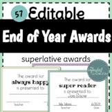 End of Year Awards | 57 Editable Superlative Award Certificates