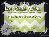 End of Year Awards-5th Grade Chevron