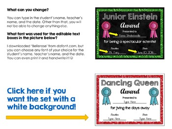 End of Year Awards Editable(Black Background)