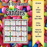 End of Year Awards: Candies / for Middle School (Grades 5, 6, 7, 8)