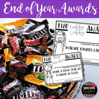 End of Year Awards - Candy Bar - EDITABLE