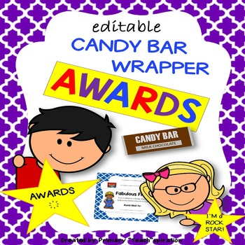 End of Year Awards {Candy Bar Wrapper Awards}