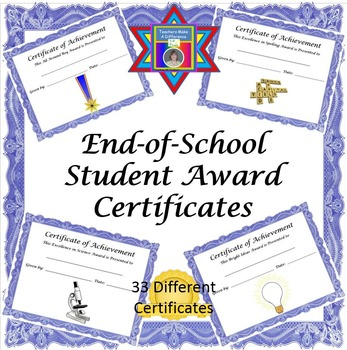End of Year Awards (Certificates)