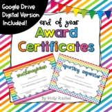 End of Year Awards Certificates - Distance Learning