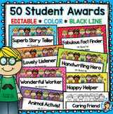 End of the Year Awards - Editable Certificates