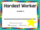 End of Year Awards Certificates