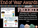 End of Year Awards and Certificates {EDITABLE} FREEBIE