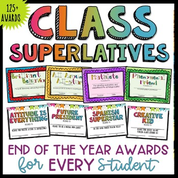 End of the Year Awards by Teaching With a Mountain View | TpT