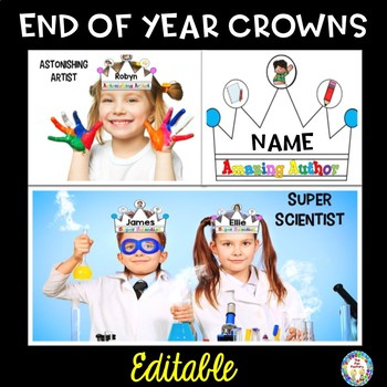 Editable End of Year Award Crowns