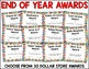 End of the Year Awards Editable Award Certificates