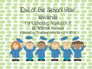 End of the Year Awards- Dots