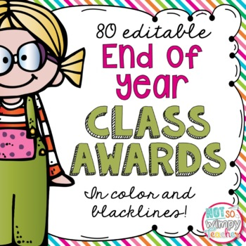 End of year teaching resources lesson plans teachers pay teachers end of year awards editable 80 color and bw fandeluxe Images
