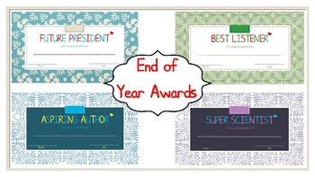 End of Year Awards!  *Editable!!